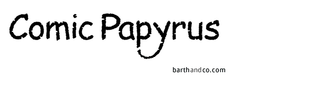 Comic Papyrus, A Typeface Combo of the Two Loathed Fonts Papyrus and