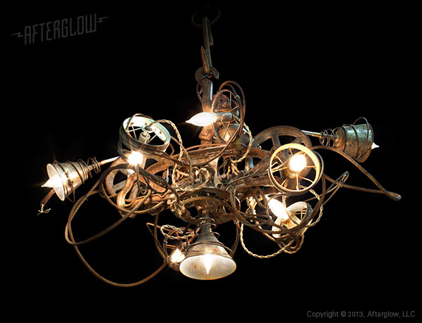 Retro Found Object Light Fixtures by Afterglow Studio