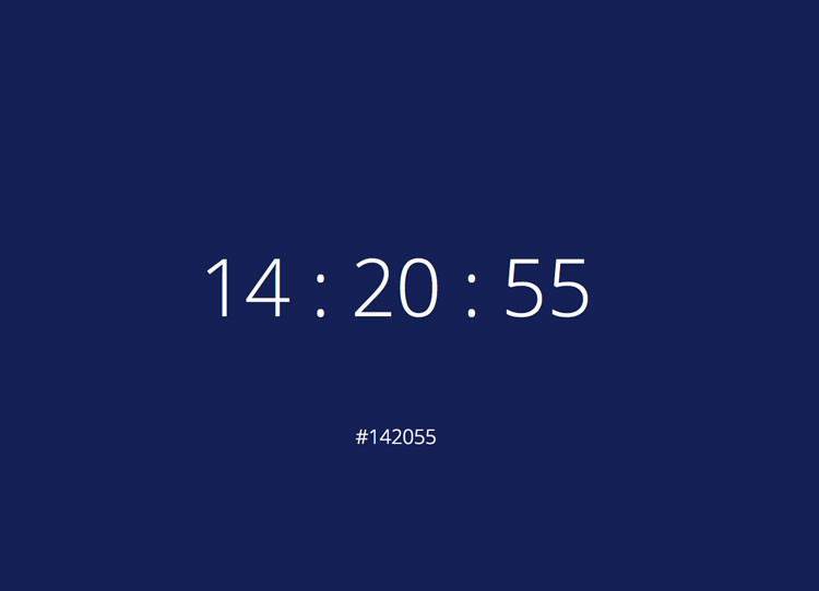 Hexadecimal Color Clock by James Murphy