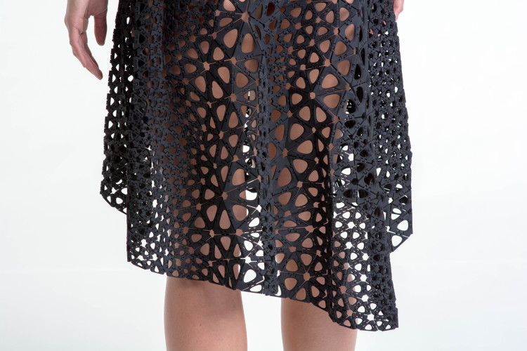 Kinematics 3D-Printed Dress by Nervous System