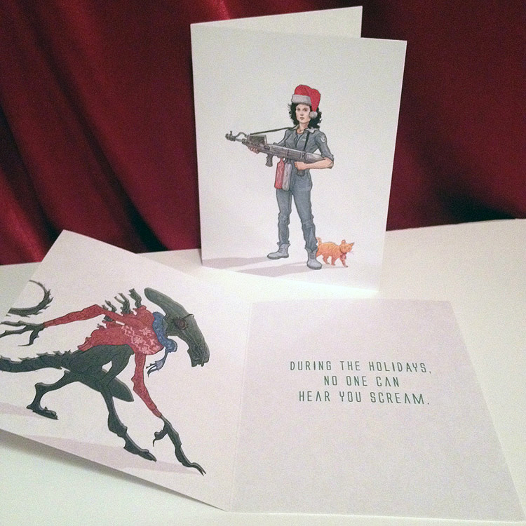 ALIEN Ripley Christmas Card