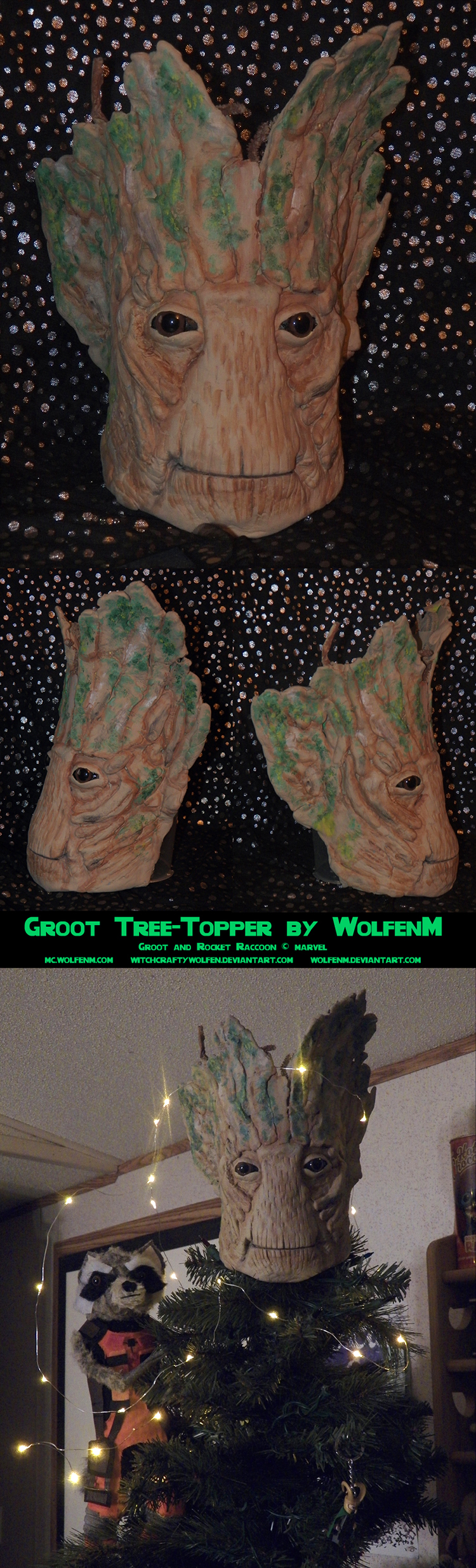 Groot Tree Topper by witchcraftywolfen