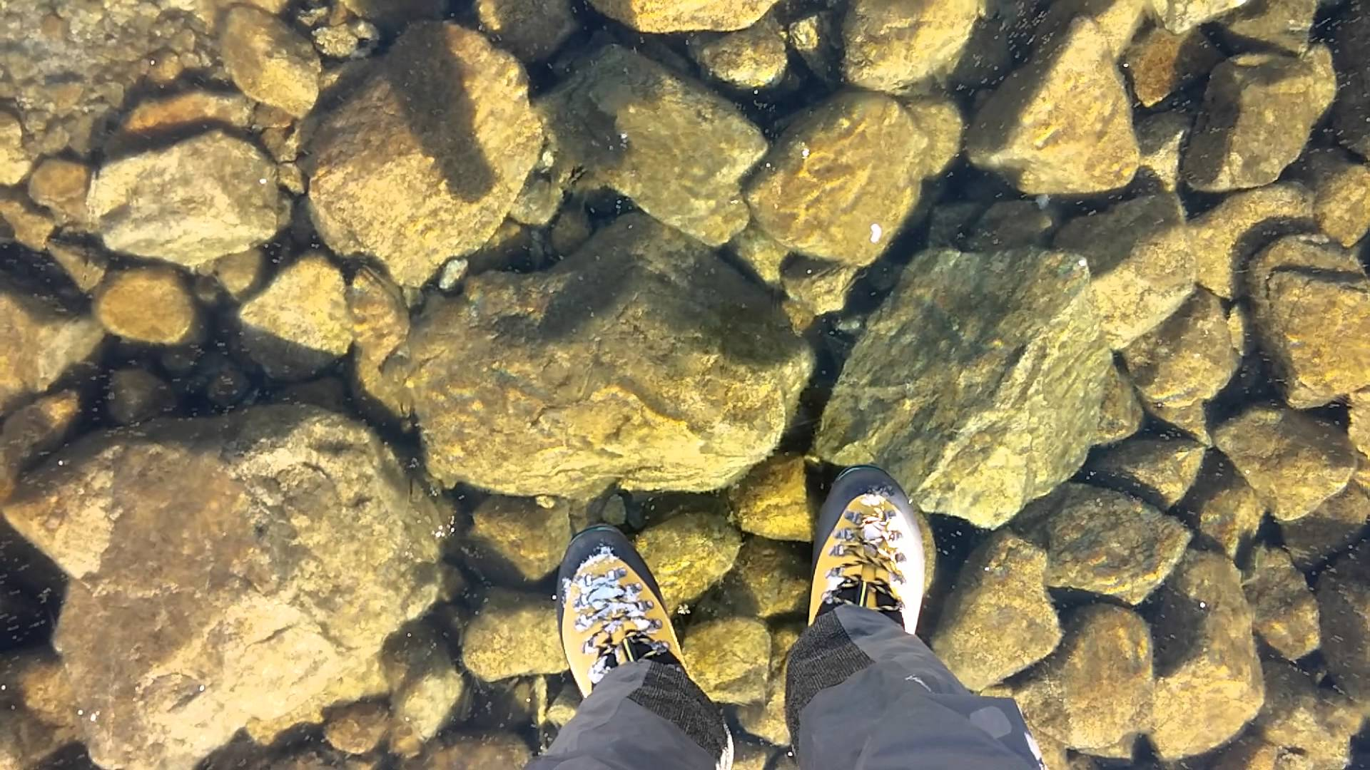 Hiker Captures Disorienting Footage While Walking Over a Crystal-Clear Frozen Lake in Slovakia