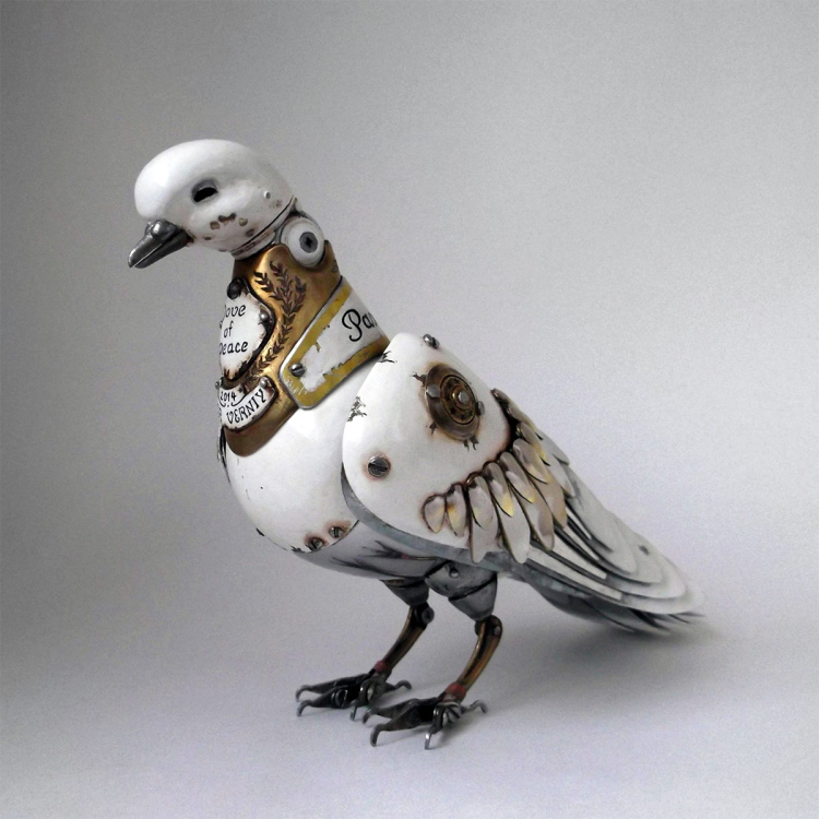Steampunk Animal Sculptures with Articulating Bodies by Igor Verniy