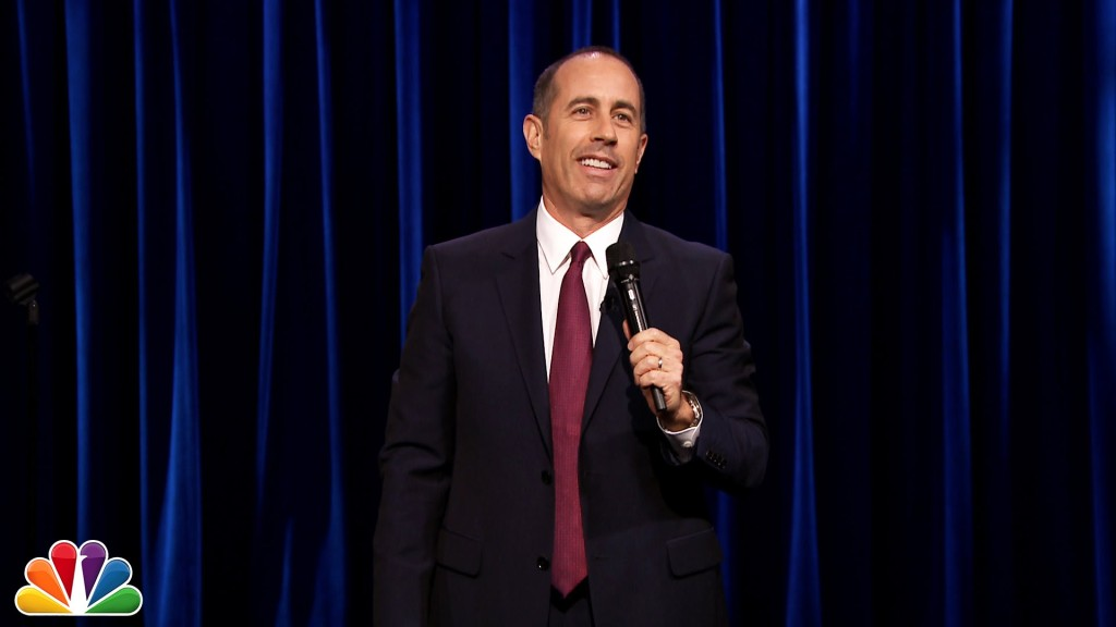 Jerry Seinfeld Talks About Garbage in a Pragmatic Stand-Up Routine on 'The Tonight Show Starring Jimmy Fallon'