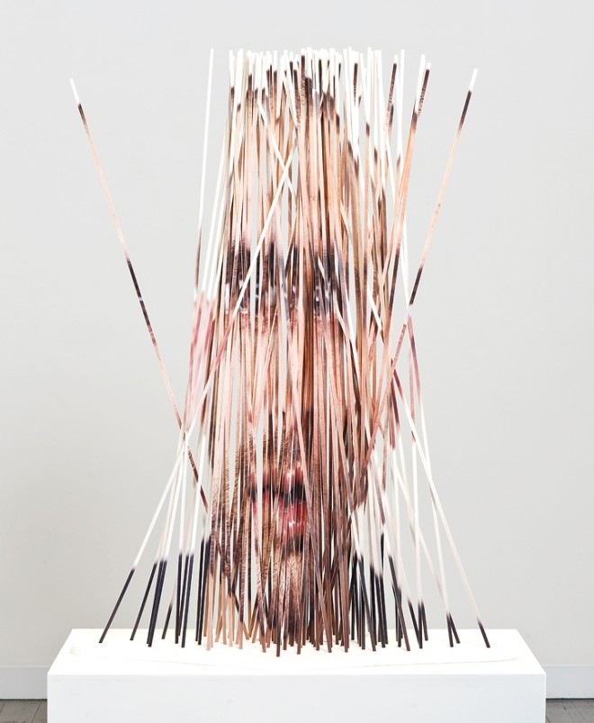 Cut Portrait Photo Sculptures by Justine Khamara