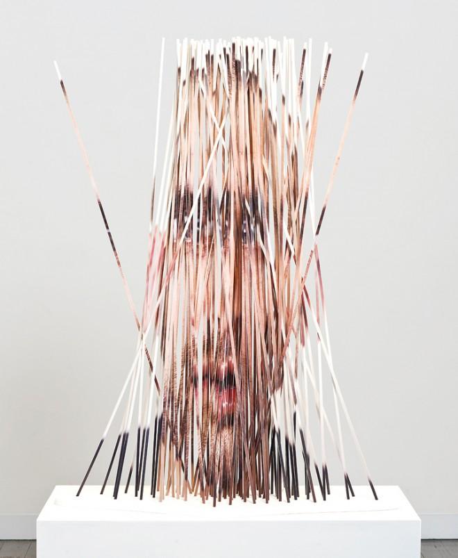 Cut Portrait Photo Sculptures by Justine Khamara