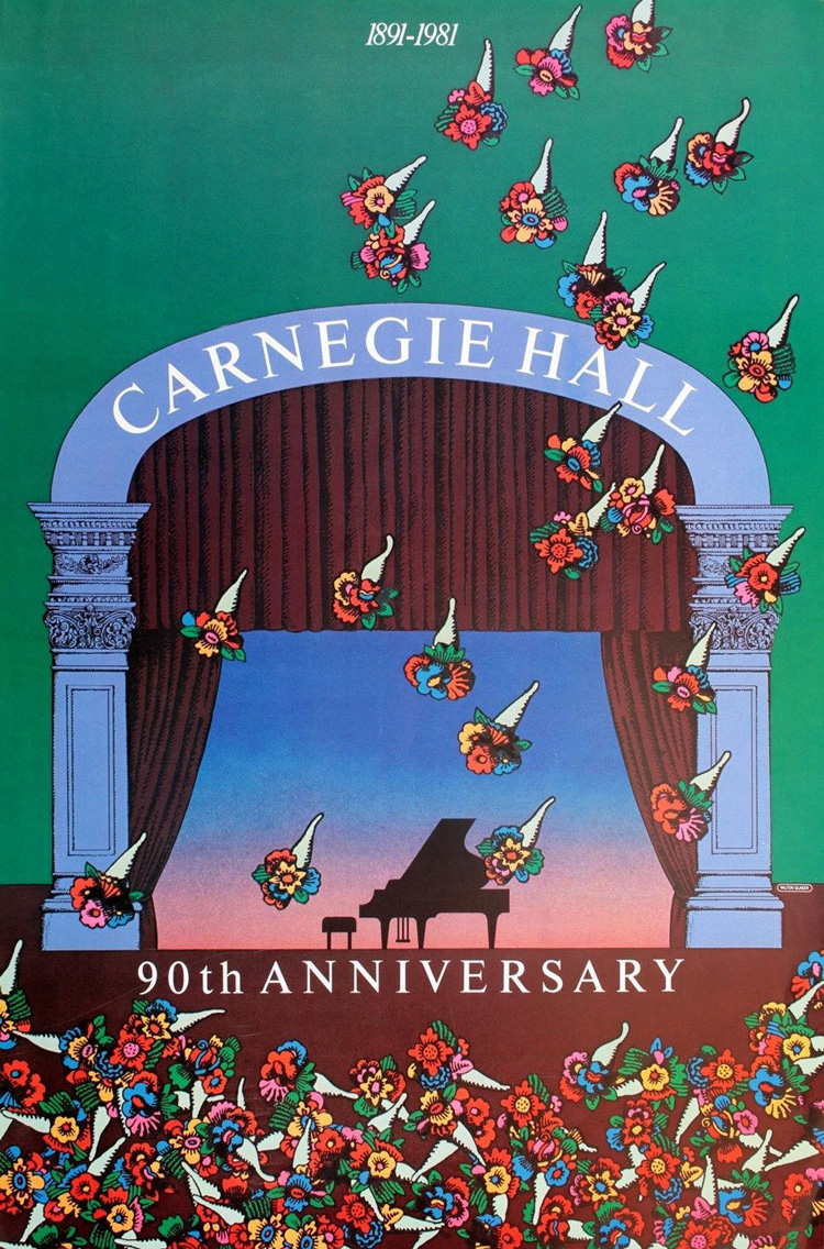 milton-glaser-90th-anniversary-poster-carnegie-hall