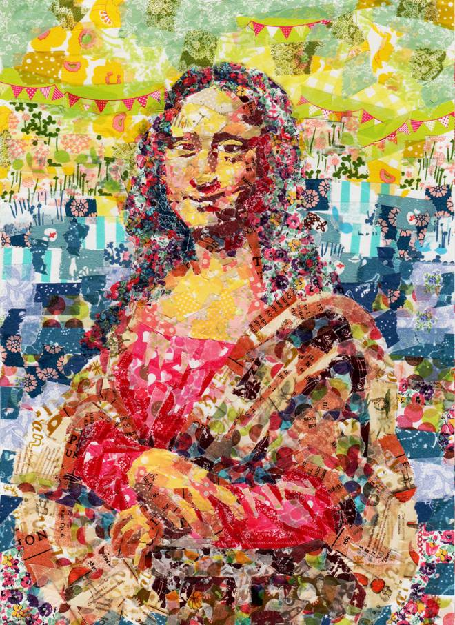 Classic Paintings Recreated with Masking Tape