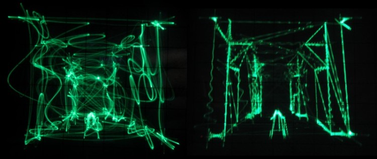 Quake on Oscilloscope