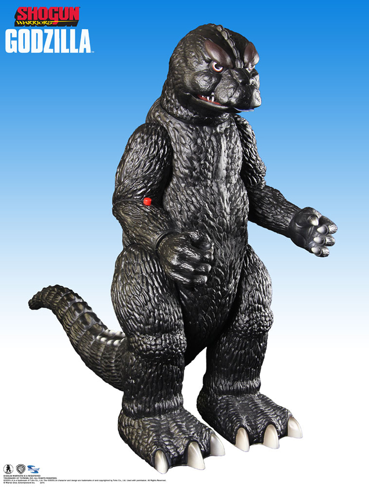 A Retro Shogun Warriors Godzilla Action Figure Made to Replicate the Giant Toy Made by Mattel in the 1970s