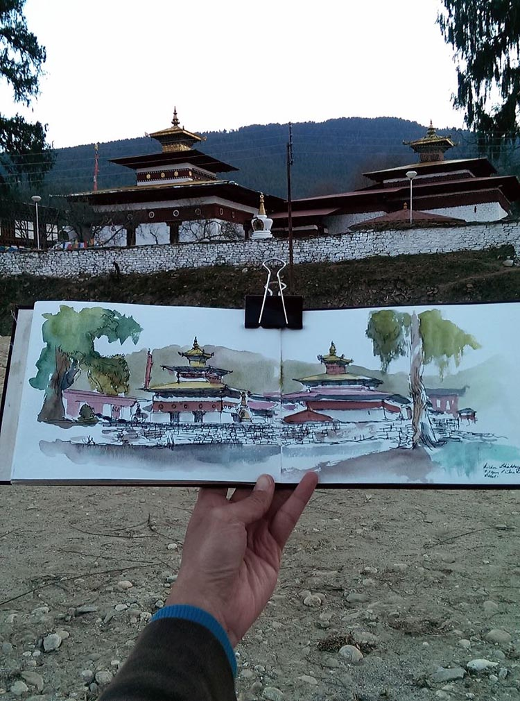 Travel Sketches by Cherngzhi Lian