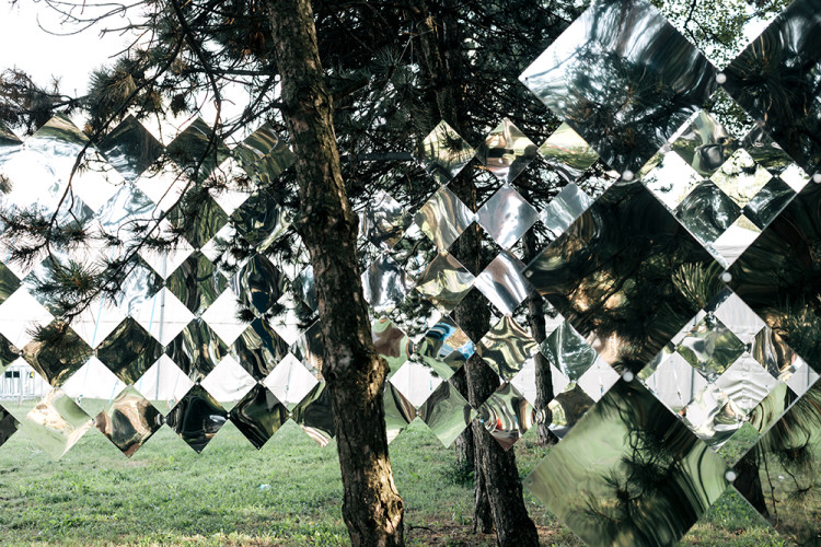 Mirage, Mirrored Kaleidoscopic Outdoor Installation