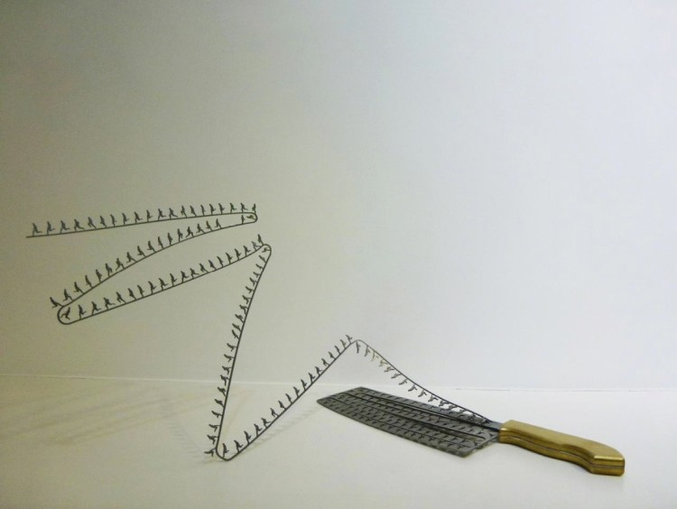 Knife Blade Art by Li Hongbo