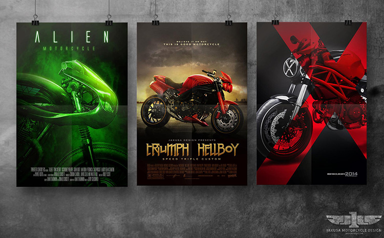 Conceptual Motorcycle Designs Based On The Alien Hellboy And