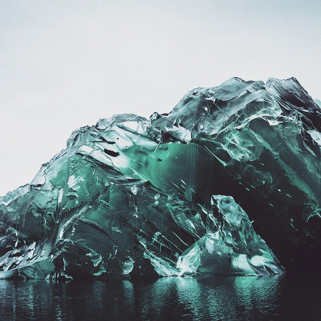 Photos of an Upside Down Iceberg by Alex Cornell
