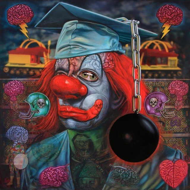 Clown School by Ron English