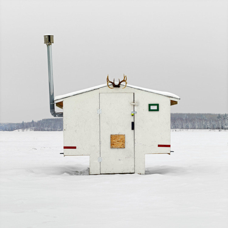 Ice Fishing Hut Photos by Richard Johnson