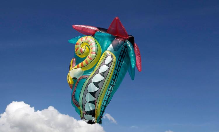 The 14th Annual Solar Balloon Festival in Envidago, Colombia