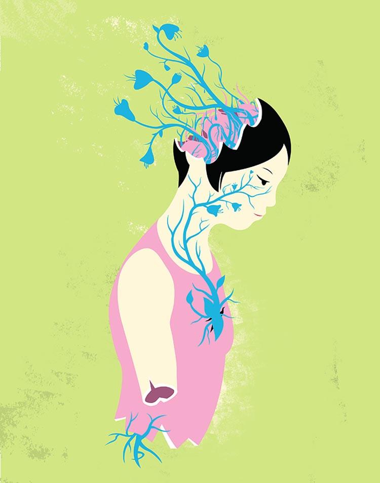 Imaginative Anatomy Illustrations by Ken Tackett