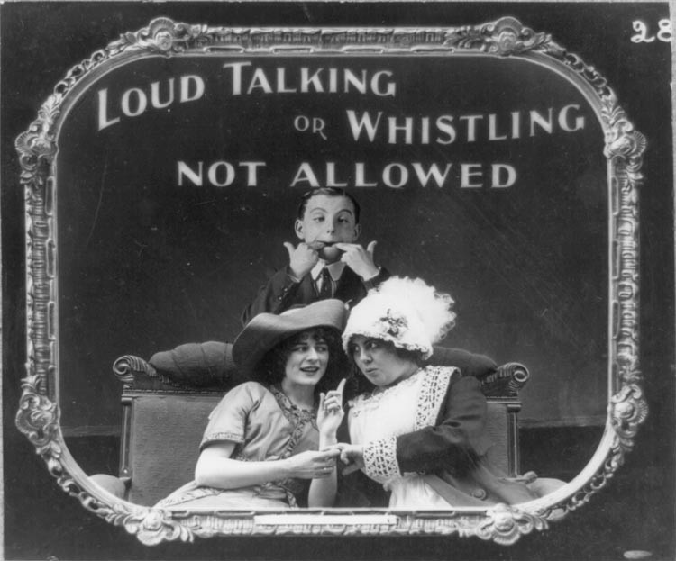 Silent Movie Theater Etiquette Slides 1912