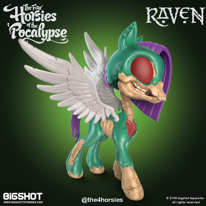 The Four Horsies of the 'Pocalypse, A Series of Truly Twisted Collectible Pony Figures Based on the Four Horsemen