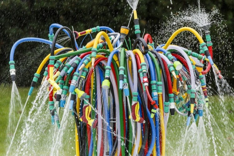 Hose Fountain at Serpentine Sackler Gallery