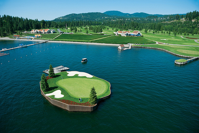 The Coeur d'Alene Resort Golf Course in Idaho Features a