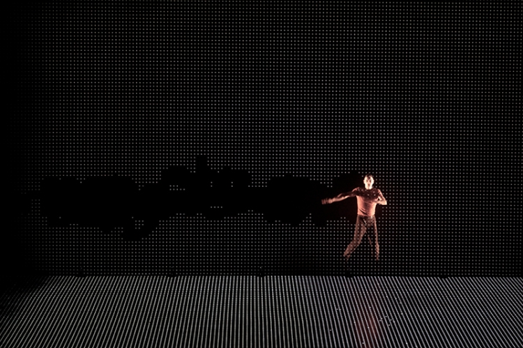 Pixel Digital Projection Dance Performance