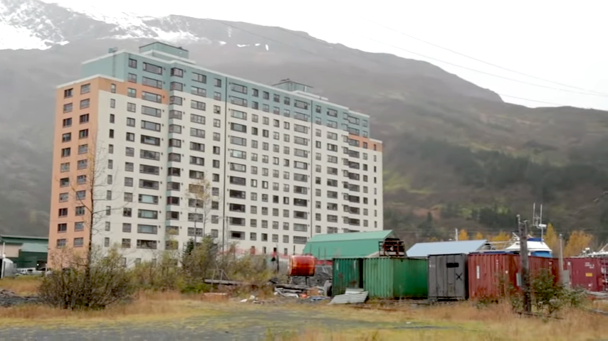 Whittier, Alaska, A Small Town With Fewer Than 300 Residents Who All Live in the Same Building