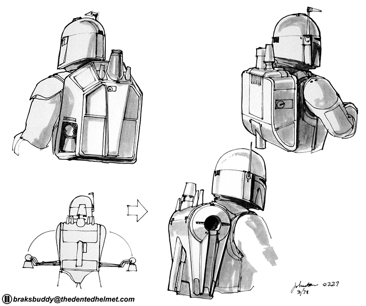 Original Concept Artwork For The Infamous Star Wars Bounty Hunter