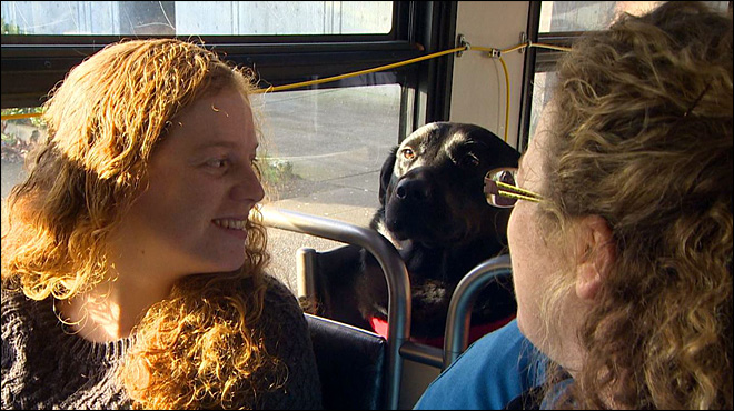 Eclipse on Bus - 2 Women