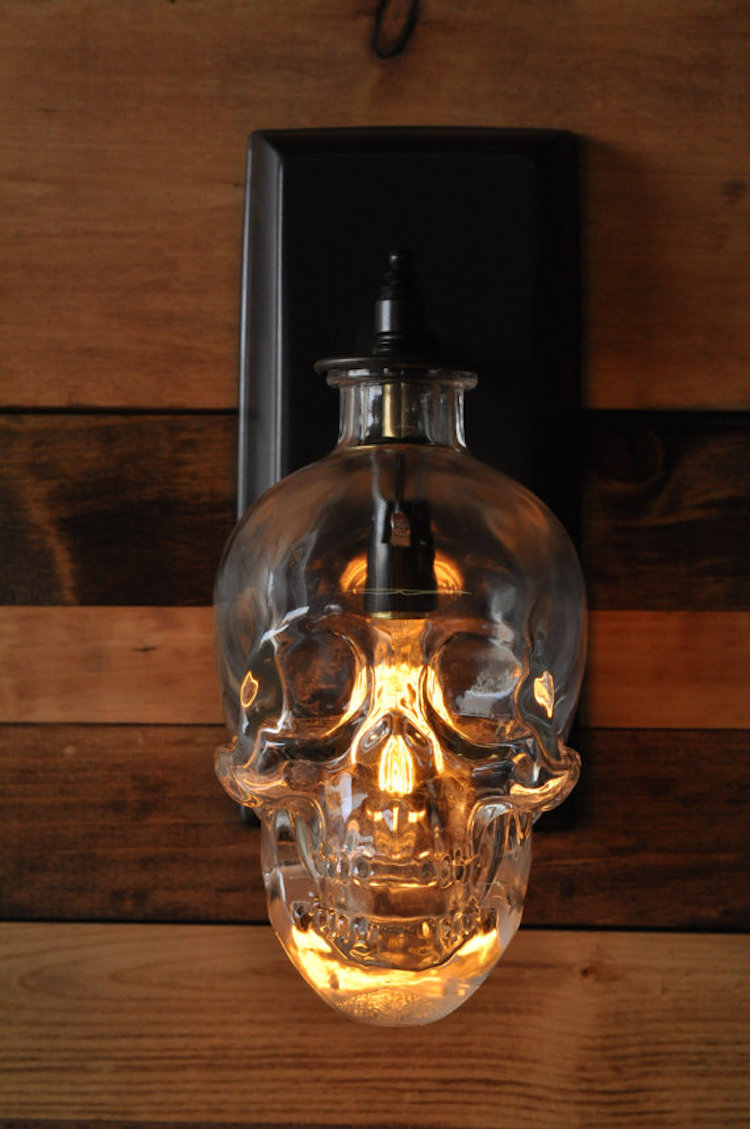 Lighting Expert Creates a Spooky Skull Wall Sconce From Recycled ...