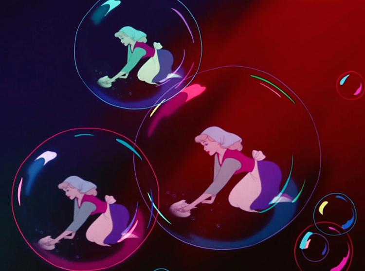 Hidden Mickey Mouse - Cinderella