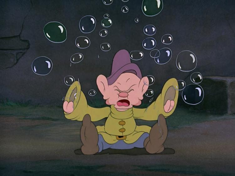 Hidden Mickey Mouse - Snow White