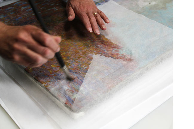 Repairing a Monet Painting