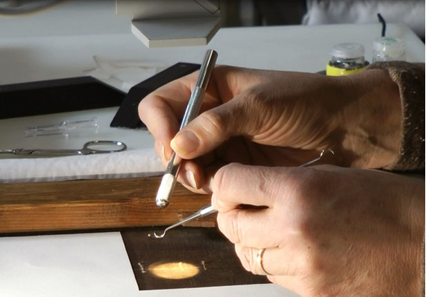 Repairing a Monet Painting