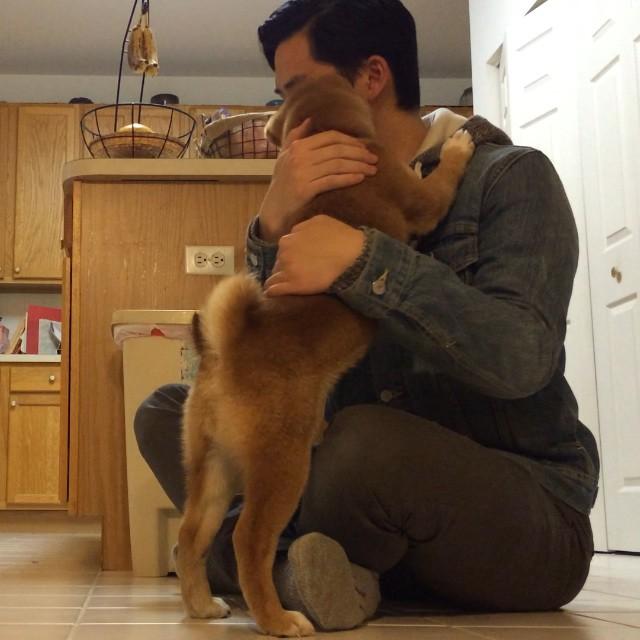 Kibo Hugging Jon