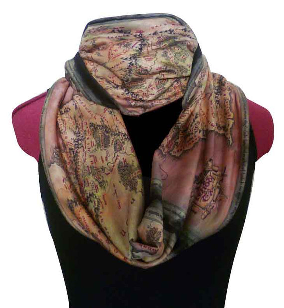 Middle Earth Map Scarf
