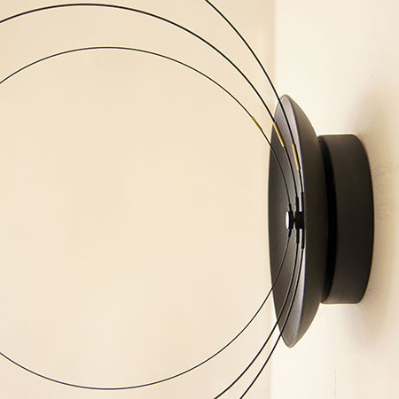 OR BK _3_1024x1024 the orbits clock, a wall clock with rotating carbon fiber circles Digital Clock Parts at readyjetset.co