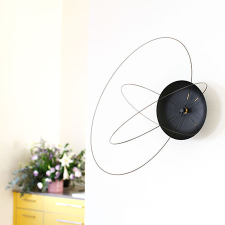 OR BK _6_1024x1024 the orbits clock, a wall clock with rotating carbon fiber circles Digital Clock Parts at readyjetset.co
