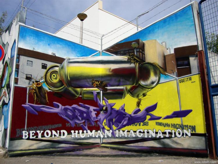 Anamorphic Graffiti by Sergio Odeith