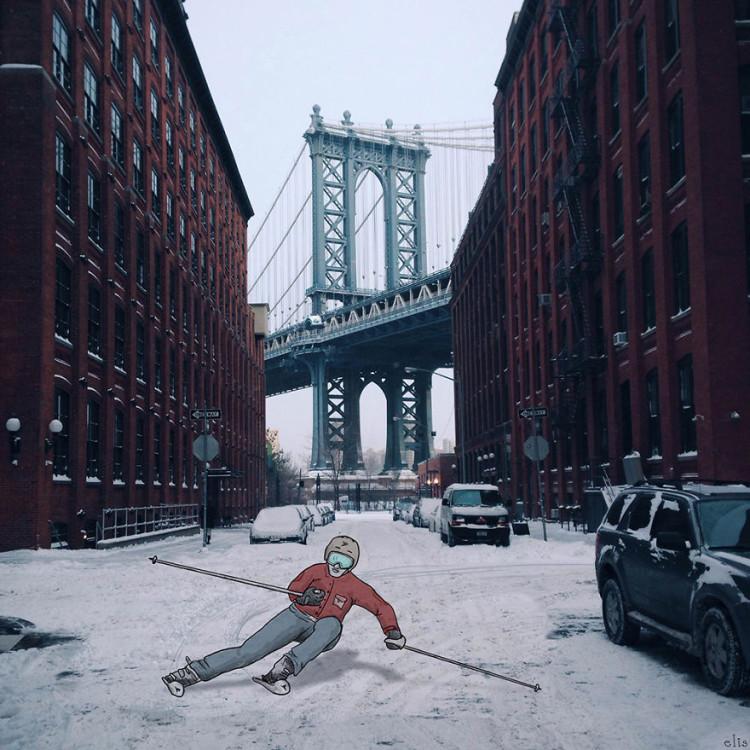 New York City Illustrations by Eliska Podzimkova