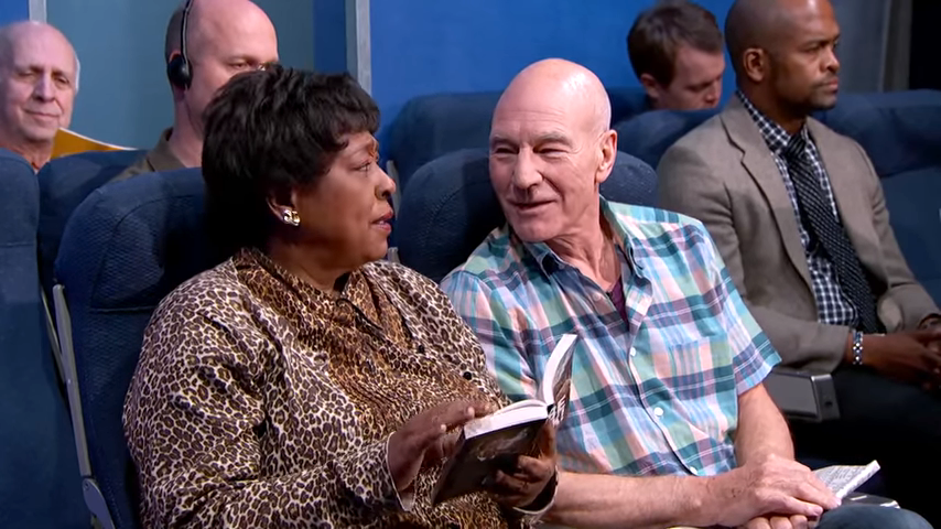 Patrick Stewart Acts Out Annoying Airline Passengers