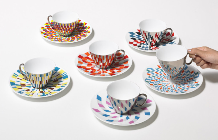 Reflective Cups and Saucer
