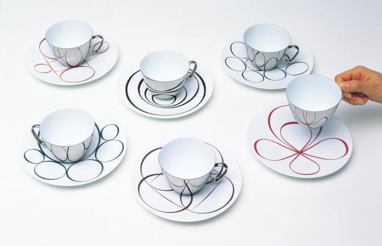 Rivulets of the Heart Cups and Saucer