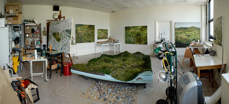 Eerie Paintings of Dioramas by Amy Bennett