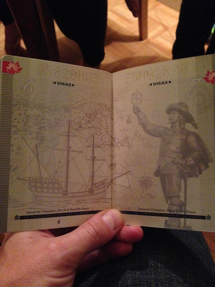 UV Light Art on the Canadian Passport