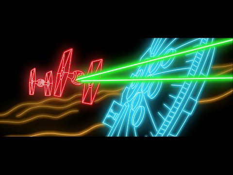 A Colorful Animated Neon Light Version of the Star Wars #0: a colorful animated neon light v