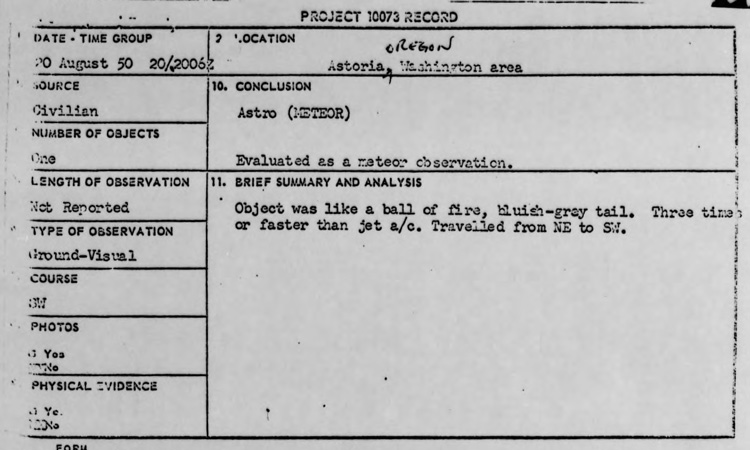 project blue book report